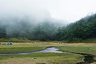 Songluo Hu mountain lake.