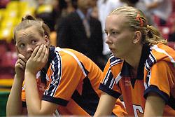 22-06-2000 JAP: OKT Volleybal 2000, Tokyo<br /> Nederland - Korea 3-1 / Kitty Sanders en Mirjam Orsel