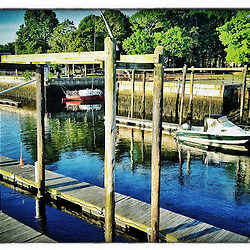 """The public moorings in Portsmouth Harbor, Portsmouth, New Hampshire. iPhone photo - suitable for print reproduction up to 8"""" x 12""""."""