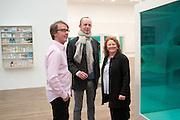 MARCUS TAYLOR; JOHNNIE SHAND KYDD; RACHEL WHITEREAD, Damien Hirst, Tate Modern: dinner. 2 April 2012.