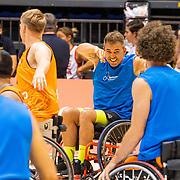 NLD/Rotterdam/20190706 - BN'ers spelen rolstoelbasketbal tijdens EK rolstoelbasketbal vrouwen, team oranje met Manuel Venderbos
