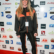 London,England,UK. 14th May 2017. Kelly Haynes of the British bobsleigh attends the BBL Play-Off Finals also fundraising for Hoops Aid 2017 but also a major fundraising opportunity for the Sports Traider Charity at London's O2 Arena, UK. by See Li