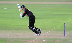 Somerset's Craig Overton flicks the ball - Photo mandatory by-line: Harry Trump/JMP - Mobile: 07966 386802 - 29/07/15 - SPORT - CRICKET - Somerset v Durham - Royal London One Day Cup - The County Ground, Taunton, England.
