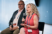 Carol Vance from Alinea Engage at Wisconsin Entrepreneurship Conference at Venue 42 in Milwaukee, Wisconsin, Tuesday, June 4, 2019.