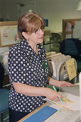Receptionist at Outpatients department,