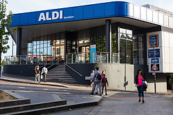 A general view of Aldi where 17-year-old lance was unable to purchase a knife as he visited numerous big brand shops on Streatham High Road in an attempt to illustrate the extent of knife control and age checking in London stores. Streatham, London, August 30 2019.