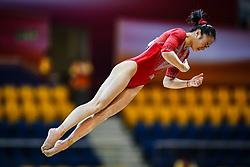 October 28, 2018 - Doha, Quatar - Jinru Liu of China   during  Floor qualification at the Aspire Dome in Doha, Qatar, Artistic FIG Gymnastics World Championships on 28 of October 2018. (Credit Image: © Ulrik Pedersen/NurPhoto via ZUMA Press)