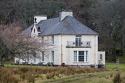 The house owned by the islands owner owner, Jamie Howard. Feature on the community on the island of Ulva, who have been awarded £4.4m in funding for their island buyout.