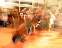 Dancers mosh during Saturday's metal fest. In a well-attended, all-ages music event organized by Salinas' own In Your Face Productions, five area metal bands played their hearts out at the Rock Boxing Gym on East Alisal Street.