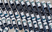 Aerial Drone image of trucks for rent at a Herc Location in Orlando, FL