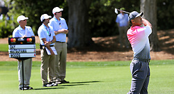 March 16, 2018 - Orlando, FL, USA - Tiger Woods hits from mid-fairway on hole #1 on the second day of the Arnold Palmer Invitational at Bay Hill Friday, March 16, 2018 in Orlando, Fla. (Credit Image: © Joe Burbank/TNS via ZUMA Wire)