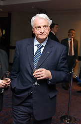 Football manager SIR BOBBY ROBSON  at a sales event for the exclusive Chelsea Bridge Wharf in aid of CLIC Sargeant cancer charity held at Stamford Bridge football stadium, Chelsea, London on 7th February 2006.<br /><br />NON EXCLUSIVE - WORLD RIGHTS