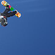 Seamus O' Connor, Ireland, in action during the Snowboard Slopestyle Men's competition at Snow Park, New Zealand during the Winter Games. Wanaka, New Zealand, 21st August 2011. Photo Tim Clayton