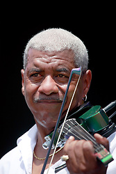 27 April 2013. New Orleans, Louisiana,  USA. .New Orleans Jazz and Heritage Festival. Michael Ward on the Congo Square stage..Photo; Charlie Varley.