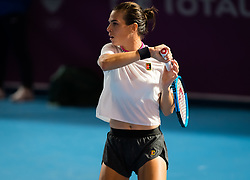 February 10, 2019 - Doha, QATAR - Ajla Tomljanovic of Australia in action during qualifications at the 2019 Qatar Total Open WTA Premier tennis tournament (Credit Image: © AFP7 via ZUMA Wire)