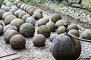 Cannonballs in Malbork (Marienburg) Castle Poland