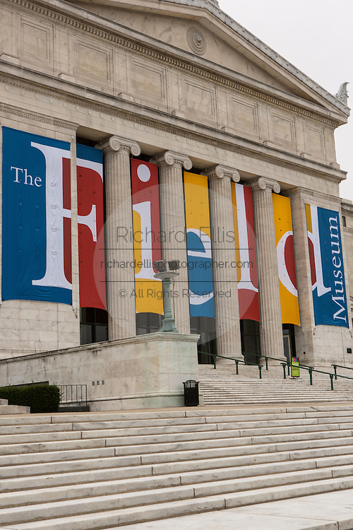 Field Museum of Natural History north entrance along Lake Michigan in Chicago USA