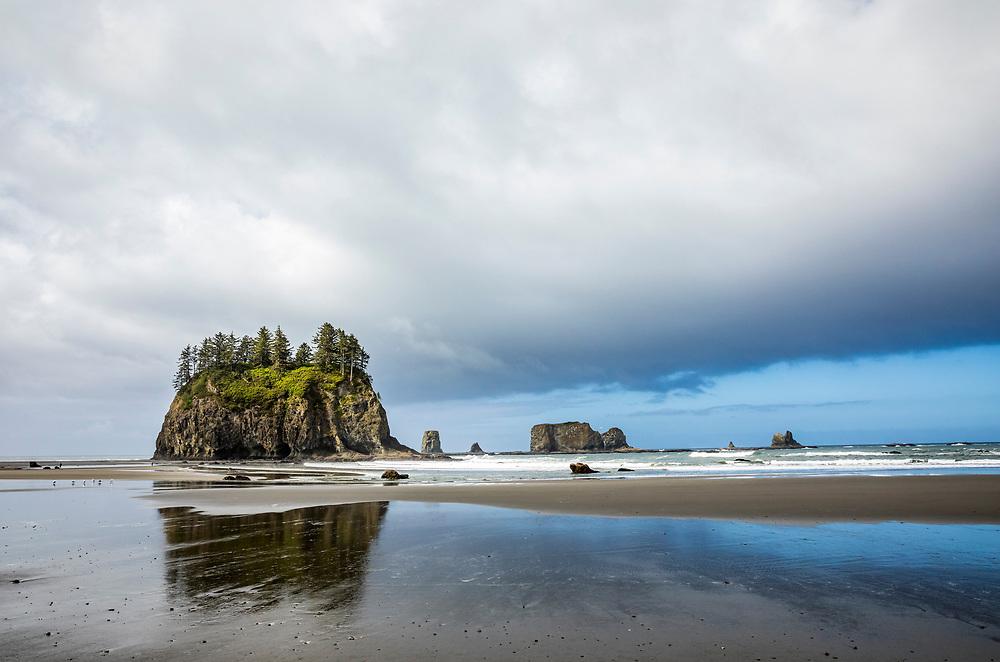 2nd Beach at low tide, Olympic Coast National Marine Sanctuary / National Park, Washington, USA.