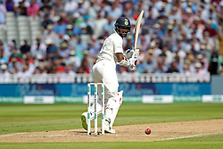 India's Shikhar Dhawan clips for 4 during day two of the Specsavers First Test match at Edgbaston, Birmingham.