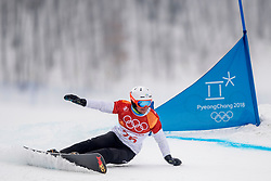 PYEONGCHANG-GUN, SOUTH KOREA - FEBRUARY 24: Tim Mastnak of Slovenia competes during the Men's Parallel Giant Slalom Qualification Run on day fifteen of the PyeongChang 2018 Winter Olympic Games at Phoenix Snow Park on February 24, 2018 in Pyeongchang-gun, South Korea. Photo by Ronald Hoogendoorn / Sportida