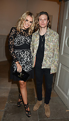 Tallia Storm and Dougie Poynter at PPQ LFW Autumn Winter 2017 show, Crypt on the Green, Clerkenwell, London England. 17 February 2017.
