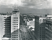 1933 Looking east at Hollywood Blvd. & Vine St.
