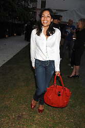 Actress ROSARIO DAWSON at a party to celebrate Le Touessrok a luxury resort in Mauritius, held at The Hempel, 31-35 Craven Hill Gardens, London W2 on 12th June 2007.<br /><br />NON EXCLUSIVE - WORLD RIGHTS