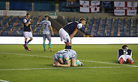 Blackburn Rovers' Joseph Rankin-Costello after missing a last gasp chance<br /> <br /> Photographer Rob Newell/CameraSport<br /> <br /> The EFL Sky Bet Championship - Millwall v Blackburn Rovers - Tuesday July 14th 2020 - The Den - London<br /> <br /> World Copyright © 2020 CameraSport. All rights reserved. 43 Linden Ave. Countesthorpe. Leicester. England. LE8 5PG - Tel: +44 (0) 116 277 4147 - admin@camerasport.com - www.camerasport.com