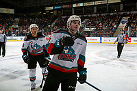 KELOWNA, BC - DECEMBER 30: Mark Liwiski #9 of the Kelowna Rockets celebrates the second goal of first period against the Prince George Cougars at Prospera Place on December 30, 2019 in Kelowna, Canada. (Photo by Marissa Baecker/Shoot the Breeze)
