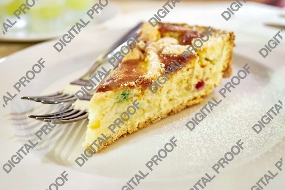 Pastiera Cake a traditional sweet desert of Napoli area for celebrate eastern