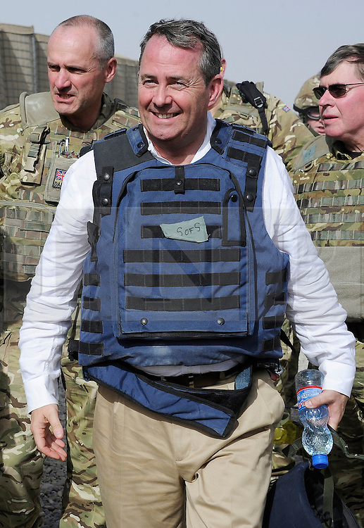 © London News Pictures. 17/06/11.  Dr Liam Fox. The Secretary of State for Defence, Dr Liam Fox visited Afghanistan to meet men and women of 3 Commando Brigade in Helmand Province today (15 Jun 11).  Dr Fox began his visit at Task Force Helmand in Lashkar Gah where he was met by the current Brigade commander, Brigadier Ed Davies. .Accompanied by the Chief of the General Staff, General Sir Peter Wall and the first Sealord Admiral Sir Mark Stanhope, the SoS travelled to a number of patrol bases within the province. Photo credit to read Alison Baskerville/LNP