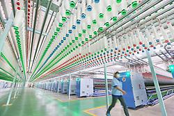 April 25, 2018 - Nanton, Nanton, China - Nantong, CHINA-25th April 2018:The intelligent wool spinning workshop of Dasheng Group in Nantong, east China's Jiangsu Province, April 25th, 2018. (Credit Image: © SIPA Asia via ZUMA Wire)