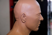 side view of the face of a boxing punch dummy