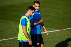 Andraz Sporar and Jure Balkovec during practice session of Slovenian national football team in national football center in Brdo, 2nd of September, 2019, NNC Brdo. Photo by Grega Valancic / Sportida