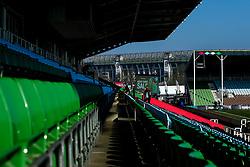 A general view of Twickenham Stoop, home of Harlequins, overlooked by Twickenham Stadium - Mandatory by-line: Robbie Stephenson/JMP - 23/02/2019 - RUGBY - Twickenham Stoop - London, England - Harlequins v Bristol Bears - Gallagher Premiership Rugby