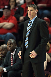 11 January 2014:  Porter Moser during an NCAA  mens basketball game between the Ramblers of Loyola University and the Illinois State Redbirds  in Redbird Arena, Normal IL.  Redbirds win 59-50