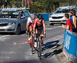 27.09.2018, Innsbruck, AUT, UCI Straßenrad WM 2018, Straßenrennen, Junioren, von Kufstein nach Innsbruck (138,4 km), im Bild Jakob Reiter (AUT) // Jakob Reirer of Austria during the road race of the Junior Men from Kufstein to Innsbruck (138,4 km) of the UCI Road World Championships 2018. Innsbruck, Austria on 2018/09/27. EXPA Pictures © 2018, PhotoCredit: EXPA/ Reinhard Eisenbauer