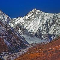 Mount Nangpa Gosum in the Khumbu region of Nepal's Himalaya.