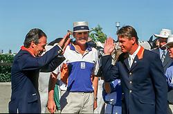 Dubbeldam Jeroen (NED) and HRH Prince Willem Alexander<br /> Olympic Games Sydney 2000<br /> © Dirk Caremans