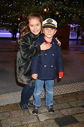 TATIANA DU CANN and DYLAN DU CANN at Skate at Somerset House in association with Fortnum & Mason held on 10th November 2014.