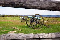 Cannon guns, Antietam National Battlefield, Sharpsburg, Maryland, USA.