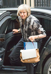 Downing Street, London, September 15th 2015.  Home Secretary, Theresa May arrives at 10 Downing Street to attend the weekly cabinet meeting