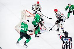 Gal Koren of HK SZ Olimpija during Ice Hockey match between HK SZ Olimpija Ljubljana and HDD Jesenice in Round #24 of Alps Hockey League, on December 22, 2018 in Hala Tivoli, Ljubljana, Slovenia. Photo by Ziga Zupan / Sportida