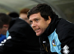 Bristol Rovers Manager Darrell Clarke takes his seat at AFC Wimbledon - Mandatory byline: Robbie Stephenson/JMP - 07966 386802 - 26/12/2015 - FOOTBALL - Kingsmeadow Stadium - Wimbledon, England - AFC Wimbledon v Bristol Rovers - Sky Bet League Two