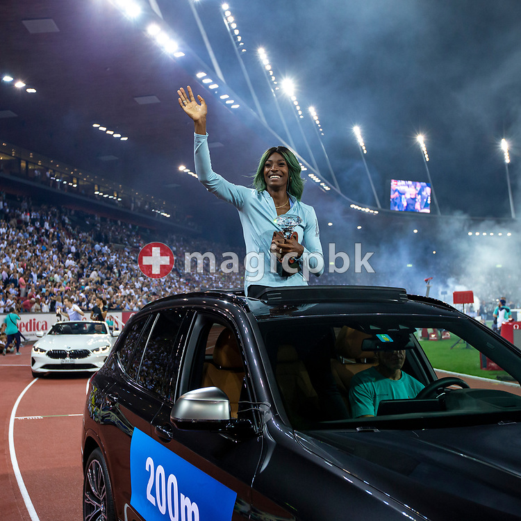 Shaunae MILLER-UIBO of Bahamas on her lap of honor after winning in the Women's 200 Meter during the Iaaf Diamond League meeting (Weltklasse Zuerich) at the Letzigrund Stadium in Zurich, Switzerland, Thursday, Aug. 29, 2019. (Photo by Patrick B. Kraemer / MAGICPBK)
