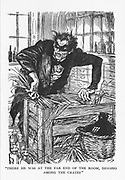 Robert Louis Stevenson 'The Strange Case of Dr Jekyll and Mr Hyde' first published 1886. Dr Jekyll trying desperately to find the chemicals that will enable him to cast off his Mr Hyde persona. Illustration by Edmund J Sullivan from an edition published 1928.