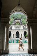 Parque Lage, Jardim Botanico, consists of a renowned art college and picturesque gardens. Rio de Janeiro.