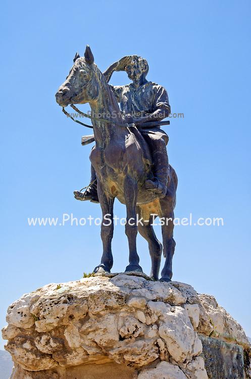 Statue of Alexander Zeid, Hashomer, Galilee, Israel.
