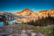 Sunrise at Thousand Island Lake at Mt. Banner Sierra Range California