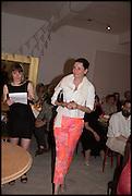 CHARLOTTE PHILLIPS;  Matt's Gallery 35th birthday fundraising supper.  42-44 Copperfield Road, London E3 4RR. 12 June 2014.
